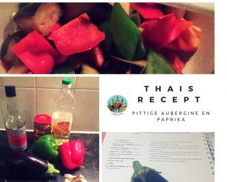 Thaise aubergine en paprika